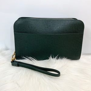 100% Authentic Louis Vuitton Green Orsey Wrislet